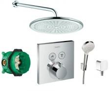 Hansgrohe Select bateria Zestaw prysznicowy podtynkowy, deszczownica 25cm(6751105 +6651405 +27593000 +27453000 +15763000 +01800180) chrom - 467984_O1