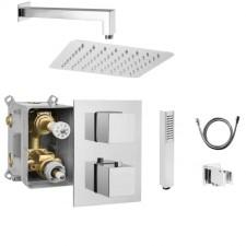 Deante Box zestaw termostatyczny prysznicowy podtynkowy, deszczownica 300x300 (BXX 0EAT + BXX X44T + NAC 009K + NAC 046K + NAC 052K + NDA 151S + NOQ 051S) - 689845_O1