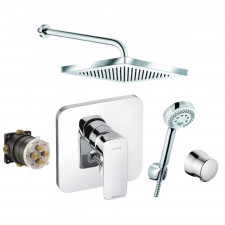 Kludi Pure&Style Zestaw prysznicowy podtynkowy, deszczownica (406500575 + 6653105 + 6651405 + 6306005 + 6803005 + 88011) - 773388_O1
