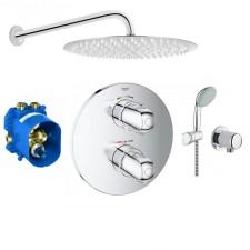 Grohe Grohtherm 1000 Zestaw prysznicowy podtynkowy, deszczownica Slim 30cm (19986000 + 35500000 + 2760110E + 28671000 + Slim R30) chrom - 766564_O1