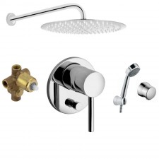 Kludi Bozz zestaw prysznicowy podtynkowy, deszczownica Slim 30cm (6306006 +6065005 +38624N +3871605 +Slim R30) chrom - 761515_O1