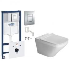 Grohe Duravit DuraStyle Zestaw Stelaż podtynkowy 5w1 z miską WC wiszącą i deską wolnoopadającą (38827000 +0063790000 +2551090000) - 461071_O1