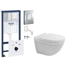 Grohe Duravit Starck 3 Zestaw Stelaż podtynkowy z miską WC wiszącą i deską wolnoopadającą, 7w1 (38827000+2527090000+0063890000) - 571548_O1
