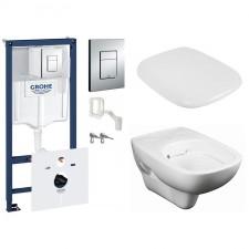 Grohe Koło Style Zestaw Stelaż podtynkowy z miską WC wiszącą i deską wolnoopadającą, 7w1 (38827000+L23120000+L20112000)) - 571549_O1