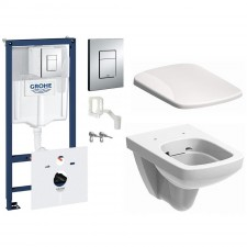 Grohe Koło Nova Pro Zestaw Stelaż podtynkowy z miską WC wiszącą i deską wolnoopadającą, 7w1 (38827000+M33123000+M30116000) - 571550_O1