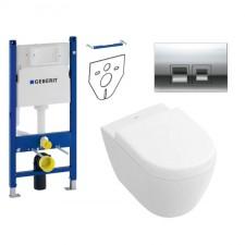 Geberit Villeroy&Boch Subway 2.0 Zestaw Stelaż podtynkowy z miską WC wiszącą bezrantową DirectFlush i deską w/o (111.153.00.1+5606R001+9M69S101) - 739525_O1