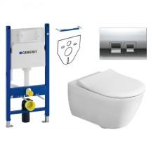 Geberit Villeroy&Boch Subway 2.0 Zestaw Stelaż podtynkowy z miską WC wiszącą bezrantową DirectFlush i deską Slimseat (111.153.00.1+5614R001+9M78S101) - 739528_O1