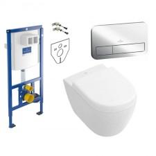 Villeroy ViConnect Subway 2.0 Zestaw Stelaż podtynkowy z miską WC wiszącą bezrantową DirectFlush i deską w/o (92246100+5606R001+9M69S101) - 739526_O1