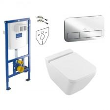 Villeroy & Boch ViConnect Finion Zestaw Stelaż podtynkowy miska WC wisząca Rimless deska w/0 (92246100 + 92249061 + 4664R0R1 + 9M88S1R1) - 773401_O1