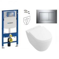 Geberit Villeroy&Boch Subway 2.0 Zestaw Stelaż podtynkowy z miską WC wiszącą bezrantową DirectFlush i deską w/o (111.320.00.5+5606R001+9M69S101) - 739527_O1