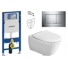 Geberit Villeroy&Boch Subway 2.0 Zestaw Stelaż podtynkowy z miską WC wiszącą bezrantową DirectFlush i deską Slimseat (111.320.00.5+5614R001+9M78S101) - 739530_O1