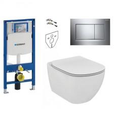 Geberit Ideal Standard Tesi Zestaw Stelaż podtynkowy z miską WC wiszącą bezrantową AquaBlade i deską w/o (111.320.00.5 + 115.883.KH.1 + T007901 + T352701) - 773418_O1