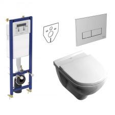 Ideal Standard Villeroy & Boch O.Novo Zestaw Stelaż podtynkowy z miską WC wiszącą bezrantową DirectFlush i deską w/o (W370567+W3708AA+5660HR01) - 739809_O1