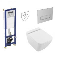 Ideal Standard Villeroy Finion Zestaw Stelaż podtynkowy miska WC wisząca Rimless deska w/o (W370567 + W3708AA + 4664R0R1 + 9M88S1R1) - 773403_O1