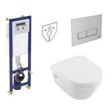 Ideal Standard Villeroy Architectura Zestaw Stelaż podtynkowy z Miską WC wiszącą, z deską w/o (W370567 + W3708AA + 5684HR01) - 773423_O1
