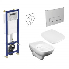 Ideal Standard Koło Style Zestaw Stelaż podtynkowy z miską WC wiszącą bezrantową Rimfree i deską wolnoopadającą (W370567+W3708AA+L2312+L20112) - 739808_O1