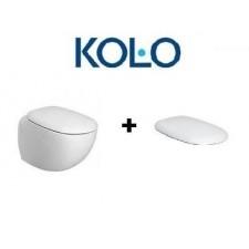 Koło Ego by Citterio zestaw miska WC wisząca 57 cm biała (ukryte mocowania) z deską wolnoopadającą K13102000+K10112O1