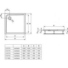 Ideal Standard Ultra Flat brodzik 70x70cm biały - 576239_O1
