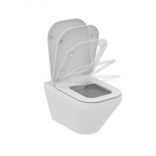 Ideal Standard Tonic II miska WC wisząca bezrantowa z deską sedesową wolnoopadającą biały - 576456_O1