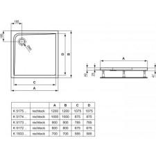 Ideal Standard Ultra Flat brodzik 120x120cm biały z powłoką antypoślizgową - 576458_O1