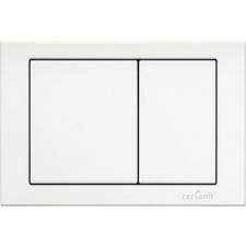 Cersanit Hi-Tec przycisk cube biały - 762687_O1
