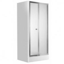 Deante Flex drzwi składane, szkło grafitowe, profil 90 chrom - 553496_O1
