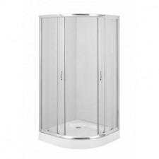 Deante Funkia kabina półokrągła, szkło transparetne 90x90O1