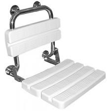 Koło Lehnen Funktion Siedzisko białe prysznicowe składane z oparciem, wypolerowaneO1