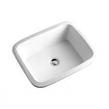 Koło Style umywalka podblatowa 50cm z otworem biała - 5926_O1