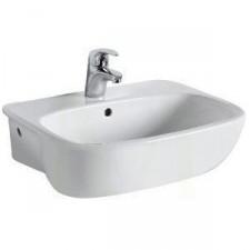 Koło Style umywalka półblatowa 55cm z otworem biała - 424901_O1
