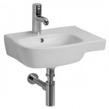Koło Style umywalka asymetryczna 45cm z otworem biała - 5916_O1