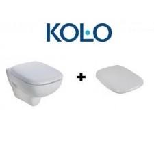 Koło Style zestaw Miska WC wisząca bezrantowa Rimfree biała z deską wolnoopadającą (L23120000+L20112000)O1