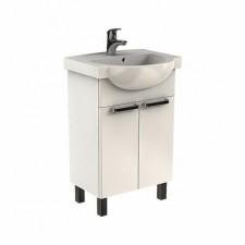 Koło Freja zestaw meblowy 55cm (szafka + umywalka) biały połysk - 573231_O1