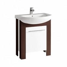 Koło Runa zestaw meblowy 70cm stojący (szafka z umywalką) wenge/biały połysk - 573169_O1