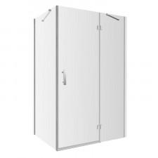 Omnires Manhattan kabina prostokątna, drzwi uchylne, 100x120cm, chrom & transparentny - 782654_O1