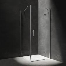 Omnires Manhattan kabina kwadratowa, drzwi uchylne, 80x80cm, chrom & transparentny - 782681_O1
