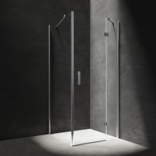 Omnires Manhattan kabina prostokątna, drzwi uchylne, 90x100cm, chrom & transparentny - 782683_O1