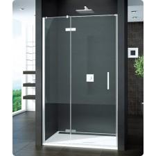 Sanswiss Ronal PUR drzwi otwierane ze ścianką stałą do ścianki lub wnęki lewe 100 profil chrom, szkło przezroczyste - 405796_O1