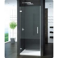 Sanswiss Ronal PUR drzwi otwierane do ścianki lub wnęki lewe, na wymiar: 100 profil chrom, szkło przezroczyste - 405813_O1