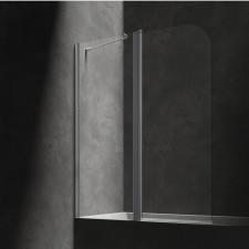 Omnires parawan nawannowy, ze ścianką stałą, 115cm, chrom & transparentny - 794294_O1
