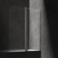 Omnires parawan nawannowy, ze ścianką stałą, 115cm, chrom & transparentny - 794295_O1