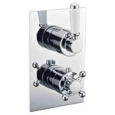 Omnires Retro bateria termostatyczna podtynkowa 2-wyjściowa chrom - 768185_O1