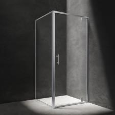 Omnires S kabina kwadratowa, drzwi uchylne, 90x90cm, chrom & transparentny - 782774_O1