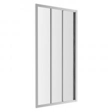 Omnires S drzwi prysznicowe przesuwne, trójdzielne, 100cm, chrom & transparentny - 782764_O1