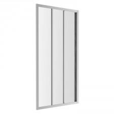 Omnires S drzwi prysznicowe przesuwne, trójdzielne, 120cm, chrom & transparentny - 782766_O1