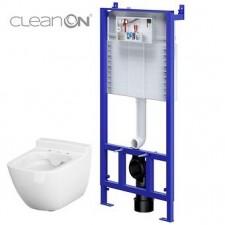 Cersanit Slim&Silent set 776 stelaż podtynkowy + miska wc wisząca caspia Clean On wirt - 762993_O1