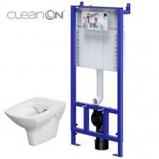 Cersanit Slim&Silent set 780 stelaż podtynkowy + miska wc wisząca carina Clean On wirt - 762858_O1