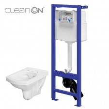 Cersanit Hi-Tec set 853 stelaż podtynkowy + miska wc wisząca easy Clean On wirt - 762992_O1