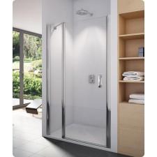 Sanswiss Ronal Swing-Line drzwi otwierane z elementem stałym do ścianki lub wnęki 140 profil srebrny mat, szkło durlux - 496301_O1