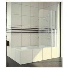 Sanswiss Ronal Swing-Line Parawan wannowy dwuczęściowy lewy 90x90 profil połysk szkło przezroczyste - 464909_O1